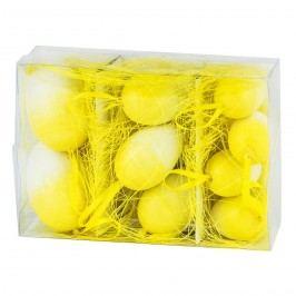 Velikonoční vajíčka 9 ks, žlutá, HTH