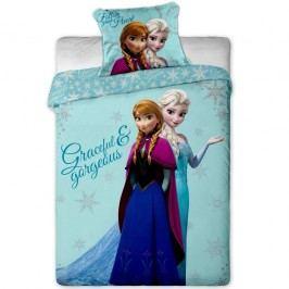 Dětské bavlněné povlečení Ledové Království Frozen sisters, 140 x 200 cm, 70 x 90 cm