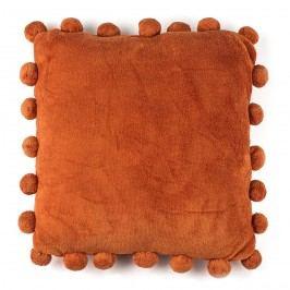 BO-MA Polštářek Pompon oranžová, 45 x 45 cm