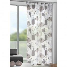 Záclona s poutky Bastian šedá, 135 x 245 cm