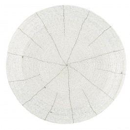 Koopman Prostírání z korálků Bead bílá, 35 cm