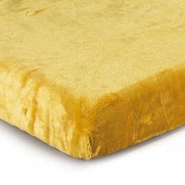 Jahu Prostěradlo Mikroplyš žlutá, 180 x 200 cm