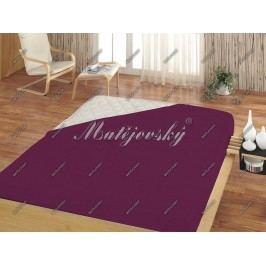 Matějovský prostěradlo Jersey fialová, 100 x 200 cm