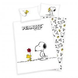 Herding Dětské bavlněné povlečení Snoopy a Woodstock, 100 x 135 cm, 40 x 60 cm