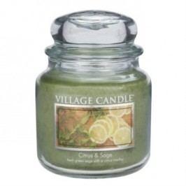 Village Candle Vonná svíčka ve skle, Citrusy a šalvěj - Citrus & Sage, 397 g, 397 g
