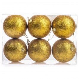 HTH Vánoční koule 6 ks zlatá