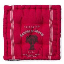BO-MA Trading Sedák široký potištěný červená, 36 x 36 cm