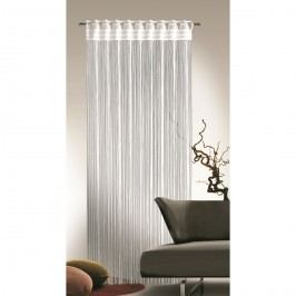 Provázková záclona Cord bílá, 90 x 245 cm