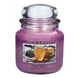 Village Candle Vonná svíčka ve skle, Med a pačuli - Honey Patchouli, 16oz, 397 g