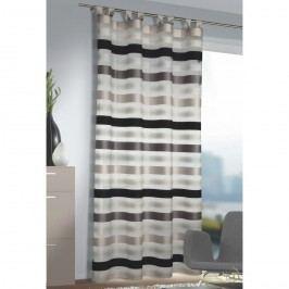 Záclona s poutky Katie stříbrná, 140 x 245 cm, 140 x 245 cm