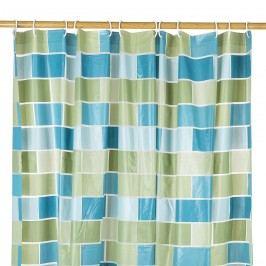 Koopman Sprchový závěs Zeď zelená, 180 x 180 cm