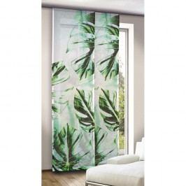 závěsový panel Leo zelenomodrý, 245 x 60 cm