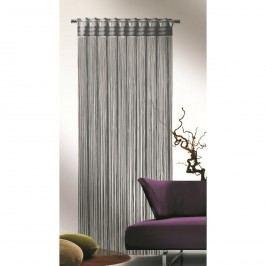 Provázková záclona Cord šedá, 90 x 245 cm