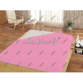 Matějovský dětské prostěradlo Jersey světle růžová, 60 x 120 cm