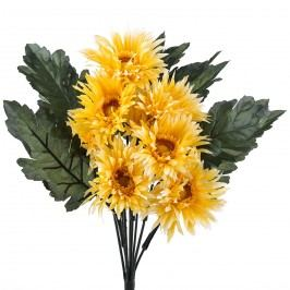 Umělá kytice gerbera, žlutá, Livo