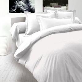 Saténové povlečení Luxury Collection bílá, 220 x 200 cm, 2 ks 70 x 90 cm
