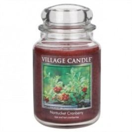 Village Candle Vonná svíčka ve skle, Brusinka - Nantucked Cranberry, 645 g, 645 g