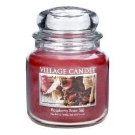 Village Candle Vonná svíčka ve skle, Maliny a čajová růže - Raspberry Tea Rose, 397 g, 397 g