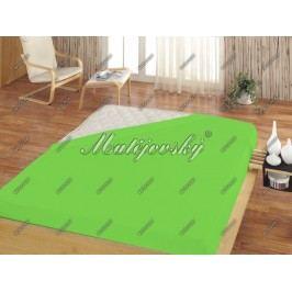 Matějovský prostěradlo Jersey zelená, 160 x 200 cm