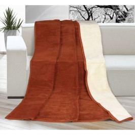 Bellatex Přehoz Kira terrakota/béžová, 200 x 230 cm, 200 x 230 cm