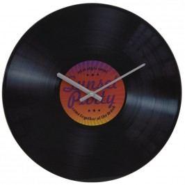 Nástěnné skleněné hodiny Gramofon, červená