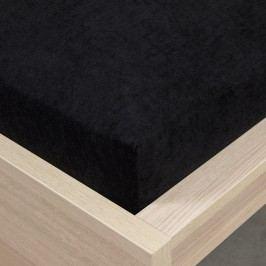 froté prostěradlo černá, 160 x 200 cm