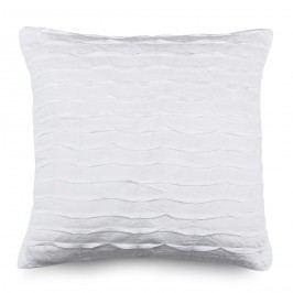 BO-MA Povlak na polštářek plátěný KUKU bílá, 40 x 40 cm,