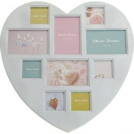Rámeček na 10 fotografií Lovely heart, 46 x 46 cm