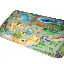 Vopi Dětský koberec Ultra Soft ZOO, 70 x 95 cm