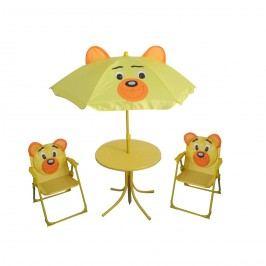Set kempingový BEAR -slunečník, stoleček, 2 křesílko