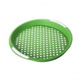Tác zelený puntík pr. 40 cm, kulatý