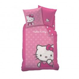 CTI Dětské bavlněné povlečení Hello Kitty Camille, 140 x 200 cm, 70 x 90 cm