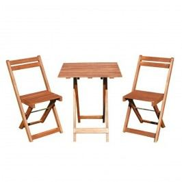 Balkonový dřevěný set Acacia 3-dílný