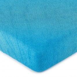 froté prostěradlo tmavě modrá, 160 x 200 cm