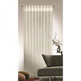 Provázková záclona Cord krémová, 90 x 245 cm