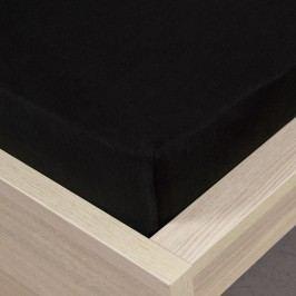 jersey prostěradlo černá, 180 x 200 cm