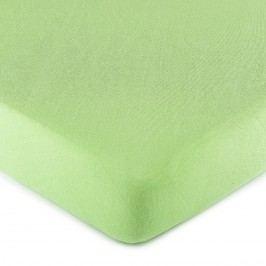 jersey prostěradlo zelená, 180 x 200 cm