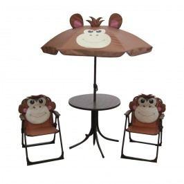 Set kempingový MONKEY-slunečník, stoleček, 2 křesílko