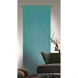 Provázková záclona Cord tyrkysová, 90 x 245 cm