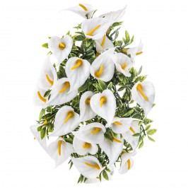 Umělé květiny Kala, bílá, 30 cm, HTH