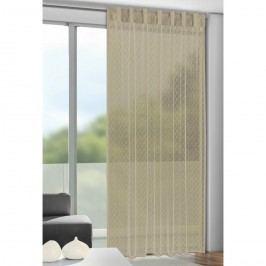 Záclona s poutky Calli oříšková, 140 x 245 cm, 140 x 245 cm