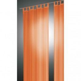 Závěs David oranžová, 140 x 245 cm, sada 2 ks