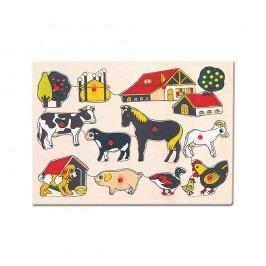 Bino Puzzle-domácí zvířata u statku