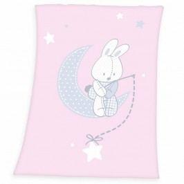 Herding Dětská deka Fynn Star pink, 75 x 100 cm