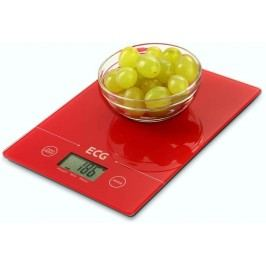 ECG KV 117 Slim Kuchyňská váha, červená