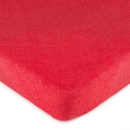froté prostěradlo červená, 160 x 200 cm