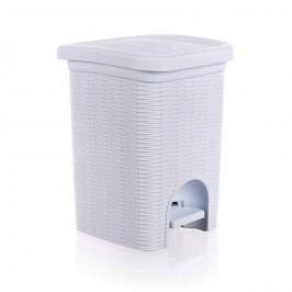 Koupelnový koš Ratan bílý