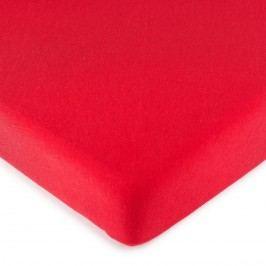 jersey prostěradlo červená, 90 x 200 cm
