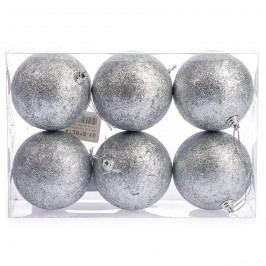 HTH Vánoční koule 6 ks stříbrná