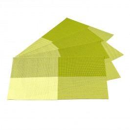 Jahu Prostírání DeLuxe zelená, 30 x 45 cm, sada 4 ks